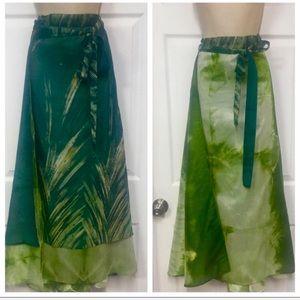 Dresses & Skirts - Silk blend reversible maxi skirt
